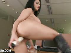masturbation, babe, big tits, brunette, solo, hardcore, pornstar, toys, beauty, black hair, busty, fake tits, naked, posing, teasing, vibrator