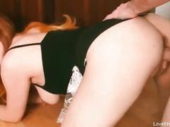 German redhead is an amazing cock sucker