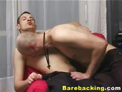 Skinny gay lovers anal bareback loading