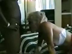 Mature white whore fucks bbc