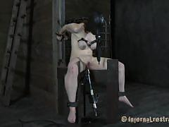 milf, bdsm, max hardcore, tits torture, basement, bondage device, sex machine, gas mask, restraints, dixon mason, infernal restraints, kinkster cash
