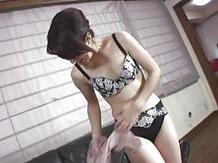 Beautiful mature asian lady undresses for you