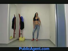 Publicagent morgan strips off and gets fucked my a fake mode