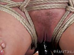 Ass and boobs torture for a scared blonde