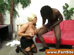 Blonde stockings cougar gets some bbc