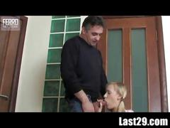 Mature guy seduces a girl