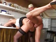 German mature teacher and student have sex