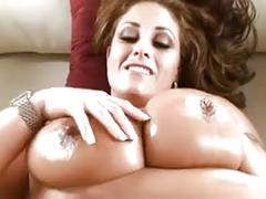 Hot hugetitted cougar titfuck and bang