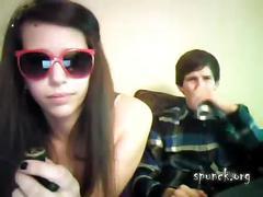 Teen couple horny as hell