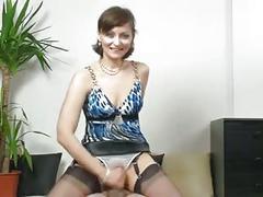 Mature panties handjob
