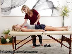 Allgirlmassage reluctant blonde gets ass licked