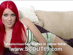 German stepsister get first assfuck after massage by stepbro