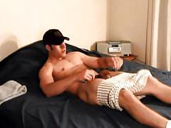 Hot male pleasures himself