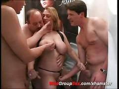 Busty german anal gangbang