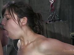 milf, skinny, deepthroat, vibrator, brunette, hanged, black hair, ropes, mouth fucking, restraints, kristine kahill, matt williams, sexually broken, kinkster cash