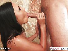 Brunette goddess gianna nicole fucks in the shower