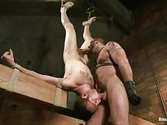 bondage, bdsm, whipping, deepthroat, gays, tied up, mouth fuck, upside down, ropes, gay 69, restraints, spencer reed, cody allen, bound gods, kinky dollars