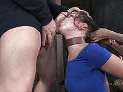 Brunette fucked by her executor and mistress