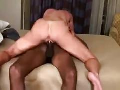 Amateur milf and young black guy