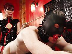 strapon, mistress, ass fuck, dildo fuck, redhead milf, ball gagged, rope bondage, leather mask, divine bitches, kink, maitresse madeline, rob yaeger
