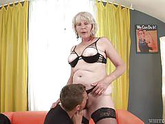 granny, saggy tits, blowjob, pussy licking, hairy pussy, licking tits, granny ghetto, fame digital, steve q, evelin a