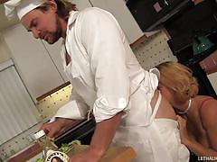Chef gets his salad tossed