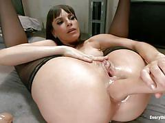 milf, lesbians, babe, stockings, brunette, ass fisting, oiled anus, everything butt, kink, dana dearmond, lyla storm