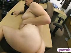 Amateur babe pawns her pussy and slammed by horny pawn dude