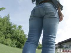 Athina's pussy is fucked and gets thick semen deposit