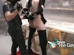 Wrap bondage sex with shadow and  rob