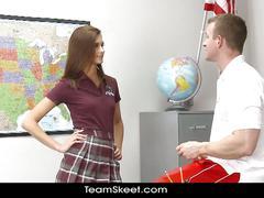 Innocenthigh smalltits schoolgirl teen rides cock