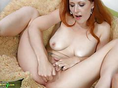 Slutty redhead playing dirty with a horny granny