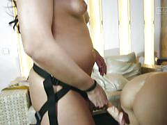 Kinky ladies playing with cock