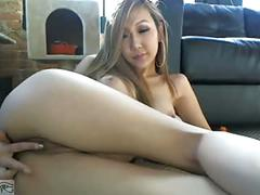 Beautiful asian on webcam