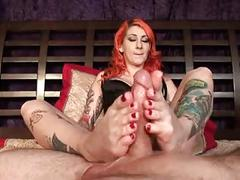 cumshots, foot fetish, redheads, tattoos