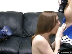Alicia on casting couch messy facial