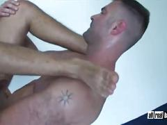 Hairy daddies bareback after massage