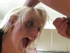 Extreme mouth fucking blonde dutch