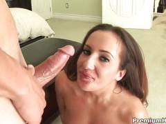 Richelle ryan swallows cum with a straw