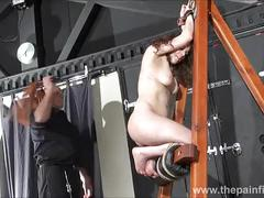 Spanked amateur slavegirl beauvoirs hellpain whipping and strict dungeon bondage