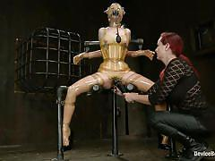 bdsm, redhead, mistress, fetish, vibrator, suffocation, bondage device, restraints, latex costume, device bondage, kink, penny pax, mz berlin, penny pax, mz berlin, device bondage, kinky dollars