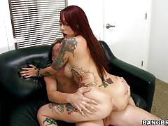 Hot tattooed babe mila fucking wildly