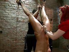 threesome, bondage, bdsm, big tits, whipping, punishment, stockings, lesbian domination, sexy clothes, pussy licking, bubble butt, huge dildo, tied up, upside down, fingering vagina, ropes, lash, vault, executor, redhead milf