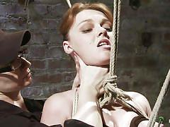 Harsh treatment for redhead cutie marie