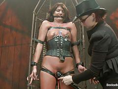 Harsh treatment applied on naughty girl