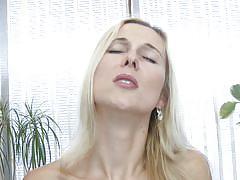 milf, blonde, big tits, high heels, solo, long hair, stockings, vibrator, masturbating, moaning, spread legs, shaved pussy, sex toys, sucking dildo, carolina ilsa, mature nl, mature money