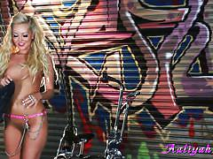 Aaliyah loves to ride bikes and to masturbate