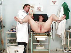 chubby, granny, hospital, czech, masturbating, gynecologist, brunette, closeup, sex toy, pussy gaping, dildo therapy, shaved vagina, plastic speculum, inside vagina, ivana x, old pussy exam, nasty czech cash