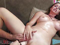 milf, squirting, dildo, live show, vibrator, fingering, couch, brunette, sex games, pov, spread legs, shaved pussy, hot tits, spinning wheel, brass knuckles, sierra sanders, immoral live, myxxxpass, blazing bucks