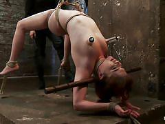milf, bondage, bdsm, hanging, punishment, vibrator, tied up, pussy fingering, upside down, ropes, oiled body, vault, executor, jessi palmer, hogtied, kinky dollars